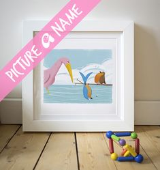 Ava, has a bird related meaning so i went with that for the illustration theme :) #birdillustration #nurseryart #nameart #kidlitart #childrensbookillustration