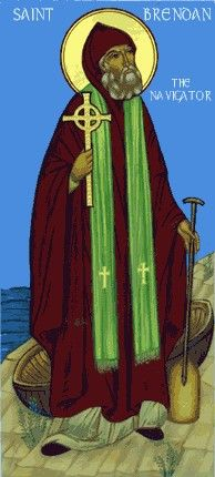 Feast of St. Brendan the Navigator; Christian Religious Observance; May 16; Irish monk, founder of Clonfert and other monasteries, and missionary to England and Scotland. Especially famed for his voyages, described in his Navigatio, which gives accurate sailing instructions to North America. A patron saint of sailors.