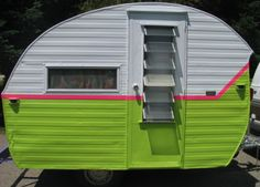 Neon Vintage Camper via www.getcampie.com