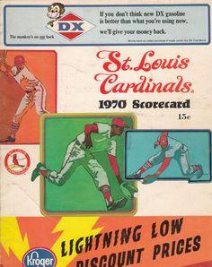 1970 Cardinals Scorecard