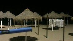 Pilot night beach