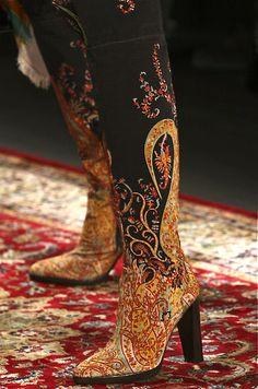 Gorgeous Hermès patterned boots
