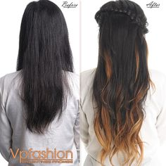 Light Cool Brown to Darkest brown Indian remy human hair Ombre Hair extensions #ombre #ombre hair extensions #hairstyles