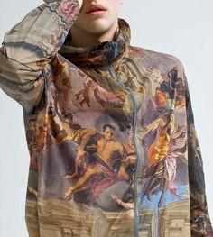 renaissance printed wind jacket spring get up