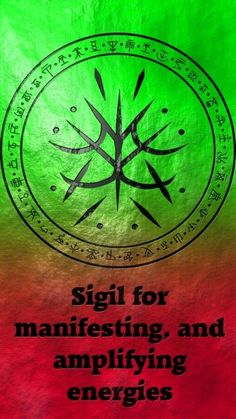 Sigil for Manifesting and amplifying energies. Wolf of Antimony Occultism. Wiccan Spell Book, Witch Spell, Wiccan Spells, Magic Spells, Witchcraft, Wicca Runes, Wiccan Symbols, Magic Symbols, Viking Symbols