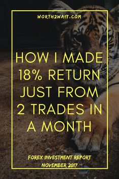 Forex Investment Return November, How I made 18% Return ONLY with 2 trades a month!
