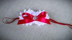 Christmas headband shabby flowernewborn by OhhSoChicBowtique, $11.25