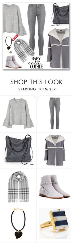 """Winter Wear"" by sherry7411 ❤ liked on Polyvore featuring MANGO, Current/Elliott, Ina Kent, Boohoo, Burberry, Valentino, Yves Saint Laurent and Kate Spade"