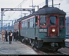 North Shore Line train at the Great Lakes Naval Station depotGreat Lakes, IllinoisMarch 1962Photo by John West
