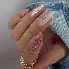 Chic Nails, Stylish Nails, Trendy Nails, Nail Manicure, Gel Nails, Coffin Nails, Ongles Beiges, Nagellack Design, Minimalist Nails