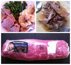 Easy-Peasy Pork Tenderloin in a Pressure Cooker Recipe Main Dishes with pork, onions, apples, garlic cloves, beef stock, salt, pepper, butter, flour