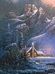vintage weihnachten Christmas gif -animations Page. Christmas Scenery, Christmas Pictures, Christmas Art, Beautiful Christmas, Winter Christmas, Vintage Christmas, Winter Images, Winter Pictures, Winter Szenen