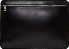 A.P.C. Black Leather Jeff Document Holder