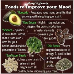 Foods To Improve Your Mood food drinks happiness positive emotions brain mood lifestyle health mental health healthy living healthy lifestyle self improvement self care self help emotional health Get Healthy, Healthy Tips, Healthy Recipes, Healthy Foods, Healthy Habbits, Fit Foods, Healthy Herbs, Raw Recipes, Recipes Dinner