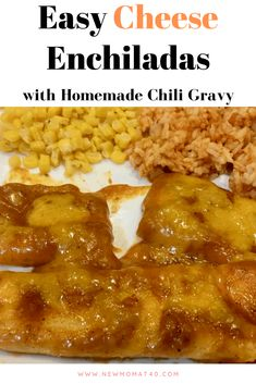 Cheese Enchiladas with Chili Gravy are my youngest daughter's favorite recipe that I cook. She tells me cheese enchiladas are the best ever! Enchilada Recipes, Beef Recipes, Mexican Food Recipes, Dinner Recipes, Cooking Recipes, Enchilada Gravy Recipe, Easy Recipes, Recipies, Enchilada Sauce