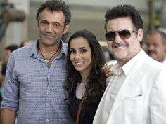 Domingos Montagner, Tânia Khalill e Antonio Calloni posam para foto (Foto: Salve…