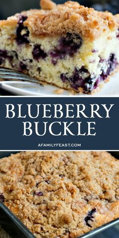 A delicious, year old family recipe for Blueberry Buckle that has been passed down through generations! A delicious, year old family recipe for Blueberry Buckle that has been passed down through generations! Köstliche Desserts, Delicious Desserts, Dessert Recipes, Health Desserts, Recipes Dinner, Unique Desserts, Fruit Recipes, Pie Recipes, Blueberry Buckle Recipe