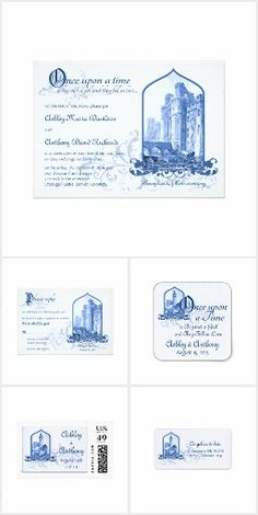 Royal Blue Fairy Tale Castle Wedding Set