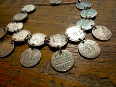 Silver Seated Liberty Dime Love Token Bracelet.