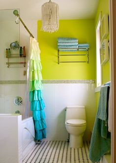 1000 images about bright bathrooms on pinterest lime for Lime green bathroom ideas pictures