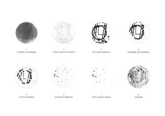 Serpentine Gallery Pavilion by Herzog de Meuron and Ai Weiwei; plan © Herzog de Meuron and Ai Weiwei Ai Weiwei, Pavilion Architecture, Architecture Drawings, Architecture Diagrams, Contemporary Architecture, Serpentine Gallery Pavilion, Parti Diagram, Wei Wei, Galleries In London