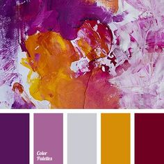The palette strikes with its play of colors and color combinations. Everything is very rich, but not annoying. Mixed together shades of this colors end up in a perfect harmony. This combination of colors can be used in the decoration of a living room and