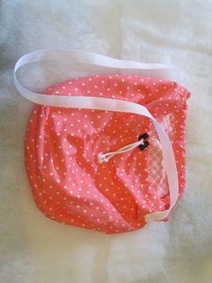 Pink Polka Dots Drawstring Bag - Brownie Bandz