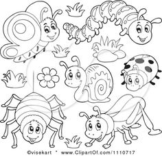 Google Image Result for http://images.clipartof.com/small/1110717-Clipart-Outlined-Butterfly-Caterpillar-Spider-Snail-Ladybug-And-Grasshopper-Royalty-Free-Vector-Illustration.jpg