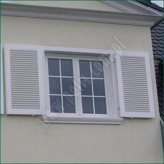 okiennice drewniane białe, szczebelkowe : www.polis.com.pl