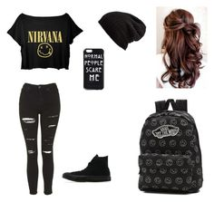 """""""Untitled #1"""" by meckensylou on Polyvore featuring Topshop, Free People, Converse and Vans"""