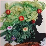 "quilling paper art. I am going to call her ""Mother Nature"""