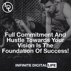 Full Commitment And Hustle Towards Your Vision Is The Foundation Of Success! Every Day! Tag your friends who need to see this! Double tap if you agree & please ! Follow me  @infinite_digital_life  @infinite_digital_life