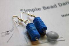Wire Wrapping for Beginners Day 1:  Simple Bead Dangle Earrings.  I'm making one project per day from my own book Wire Wrapping for Beginners.