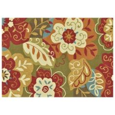 "Loloi Francesca Colorblock Floral Rug - 27"" x 45"""