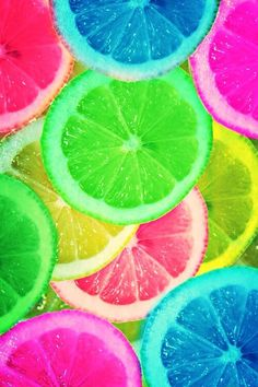 Colorful lemons