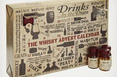 Whisky Advent Calendar - for the whiskey lover in your life!  $250 #gift #gifts #ideas for #men #him #whiskey #bar #Christmas