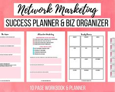 Social Media Tracker, I Am Affirmations, Law Of Attraction Planner, Business Planner, Direct Sales, Powerful Words, Marketing, Planners, Etsy
