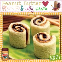 """""""Peanut butter & Jelly sushi :)"""" by everygirlhasatip on Polyvore"""