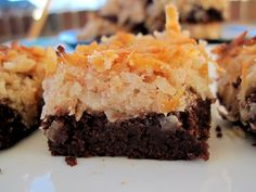 TRY! Magic Brownie Bars | PaleOMG - Paleo Recipe - key ingredients: coconut and dates