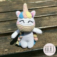 Amigurumi Free, Amigurumi Doll, Amigurumi Patterns, Easy Crochet Patterns, Crochet Designs, Love Crochet, Knit Crochet, Unicorn Crafts, Crochet Unicorn