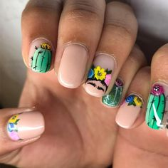 Cute Acrylic Nails, Cute Nails, Pretty Nails, Gel Nails, Rodeo Nails, Mexican Nails, Summer Holiday Nails, Nail Pops, Celebrity Nails