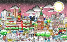 New Fazzino Release! Moscow #city #popart! Will be available in Sept.