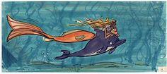 Concept art for Disney's The Little Mermaid