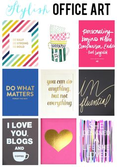 Stylish Art Prints for the Office designed by Inspiring Women!