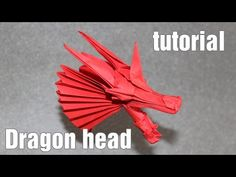Best Origami Dragon Head tutorial - DIY (Henry Phạm) - YouTube