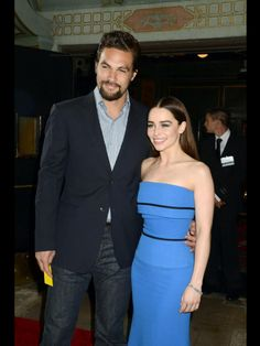 Khal Drogo and Danerys (Jason and Emilia).