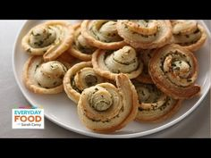 I love a good cheese plate as much as the next gal, but sometimes it's nice to add something really homemade to your savory party spread. That's where these flavor-filled pinwheel crackers come in. They're so easy to make, and they look just rustic-looking enough that people will know they're homemade.     Sarah's Tip of the Day:   It all starts wi...