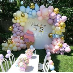 Valentina's Ice Cream Theme Birthday Party ? Balloons Props Kids Chairs and Table ?Valentina's Ice Cream Theme Birthday Party ? Balloons Props Kids Chairs and Table Balloon Decorations Party, Party Garland, Birthday Party Decorations, Baby Shower Decorations, Birthday Parties, Birthday Celebrations, Birthday Cake, Baloons Wedding, Deco Ballon