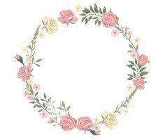 Rose decorative circular border PNG and Clipart Deco Floral, Motif Floral, Floral Design, Flower Border Png, Floral Border, Fond Design, Rose Clipart, Budget Planer, Borders And Frames