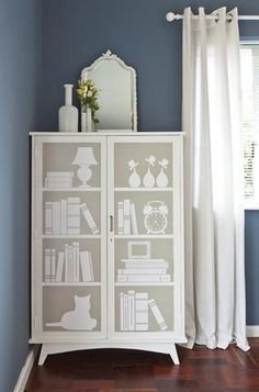 Use vinyl stickers to give old furniture a new look